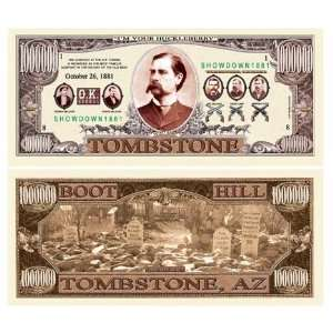 SET OF 5 BILLS TOMBSTONE (OK CORRAL) MILLION DOLLAR BILL Toys & Games
