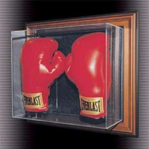 Double Boxing Glove Case Up Display Case (Wood Frame