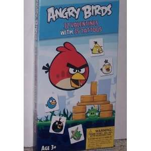 Angry Birds 32 Valentines with 35 Tattoos