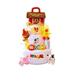 Funny Farm Diaper Cake Baby