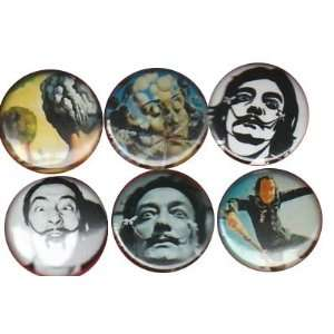 Salvador Dali Buttons Pins Badges
