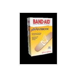 J&J Band Aid Adhesive Bandages   Antibiotic