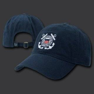 Black US Coast Guard Low Profile Cap Clothing