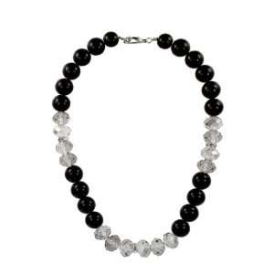 Black Jet Pearl Crystal Necklace Fashion Jewelry Jewelry