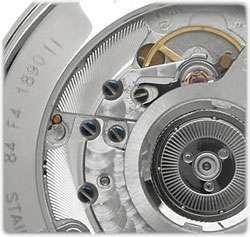 Midsize 605149 Museum Automatic Black Lizard Strap Watch Watches