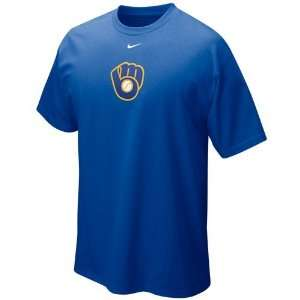 Nike Milwaukee Brewers Royal Blue Hanging Curve T shirt