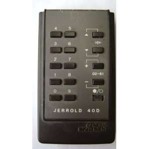 General Instrument Jerrold 400 Cable Box Remote Control Electronics