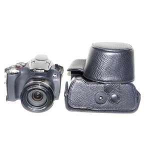 Black PU Leather Bag Case w/ Strap for Canon SX30 SX40