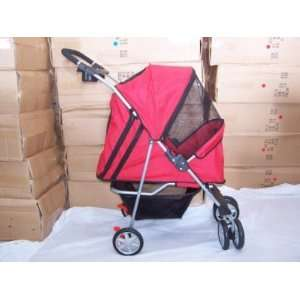 New Pet Stroller Dog Cat Carrier Bed House Red