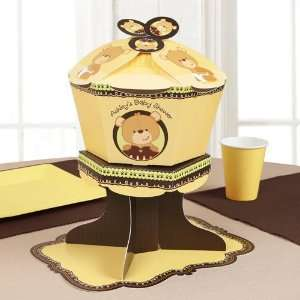 Baby Teddy Bear   Personalized Baby Shower Centerpieces Toys & Games