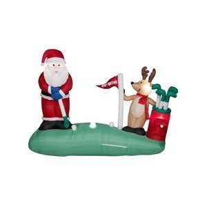 Over 7 ft long animated gemmy christmas airblown inflatable