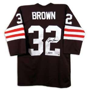 Jim Brown Cleveland Browns Autographed Jersey with HOF Inscription