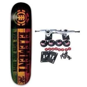 ELEMENT SKATEBOARDS RASTA BRANDED MINI 7.25 Complete Skateboard