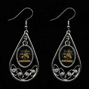 Shockers Ladies Tear Drop Crystal Dangle Earrings