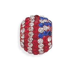 American Flag Crystal Bead Jewelry
