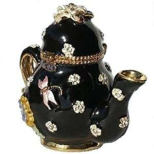 Box Swarovski Crystals 24K Gold Jewelry Trinket Pill Box Trinket