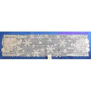 Heritage Lace Snow Family Christmas Table Runner 12 x 45
