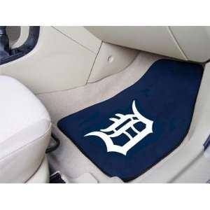 Exclusive By FANMATS MLB   Detroit Tigers 2 Piece Front Car Mats