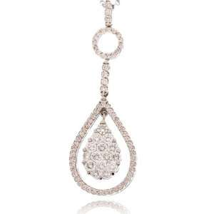 White Gold Diamond Drop Pendant (1.44 ct. tw.) C. Gonshor Jewelry