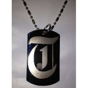 Letter T OLD English Font Initial   Military Dog Tag