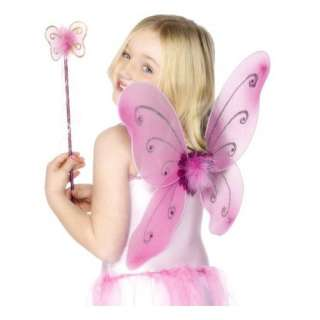 Kids Pink Butterfly Girls Fairy Halloween Costume Wings Toys & Games