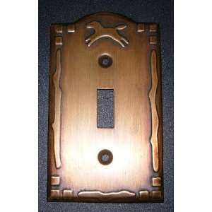 HORSE copper metal Single Light SWITCHPLATE COVER