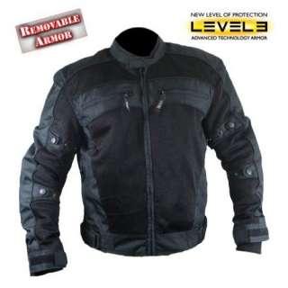Xelement Mens Black Tri Tex Fabric Level 3 Armored