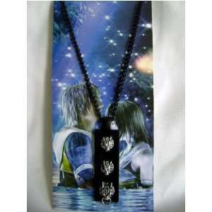 Final Fantasy 7 Black Plate Pendant Necklace Toys