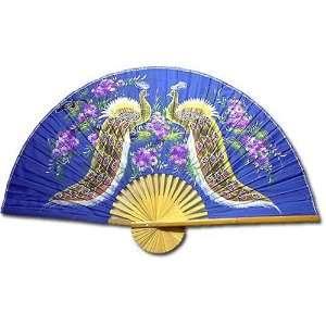 Medium 40 Folding Wall Fan    Proud Peacocks    Original