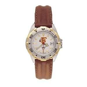 Seminoles All Star Ladies Black Leather Strap Watch
