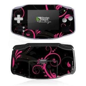 Design Skins for Nintendo Game Boy Advance   Black Curls