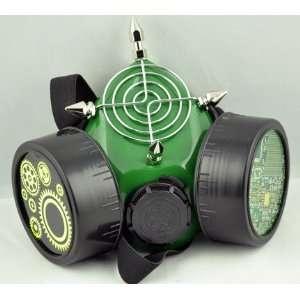 Green Steam Punk Gas Mask Respirator Pcb Clog Bio Mech