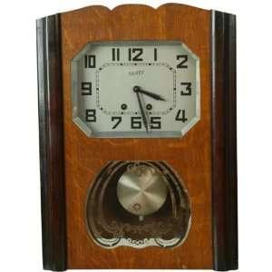 Vintage German Regulator Wall Clock Vaney Regulateur