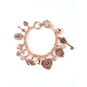 Rose Gold Fleur De Lis Charm Bracelet