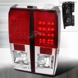 05 10 Hummer H3 Euro Led Tail Lights   Red / Clear