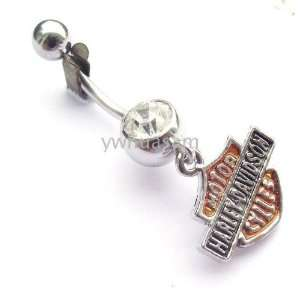 MOTORCYCLE HARLEY STYLE BIKER JEWELRY NAVEL BELLY RING BODY JEWELRY