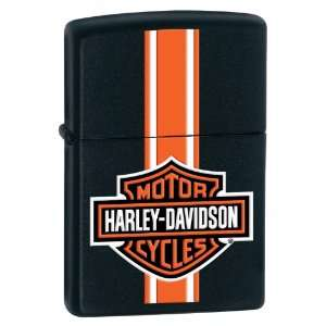 Zippo Lighter   Harley Davidson® Stripes, Black Matte