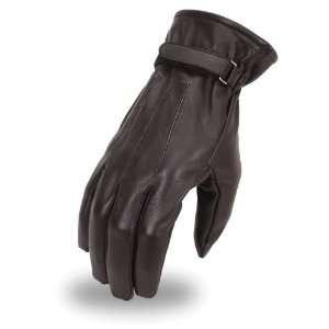 MFG First Classics Mens Leather Patrol Gloves. Velcro Strap. FI128GL
