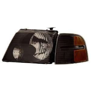 Ford Explorer 02 05 Headlamps Black with C.L Amber   (Sold