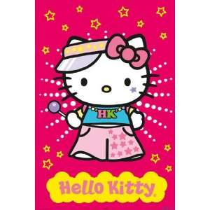 HUGE LAMINATED / ENCAPSULATED Cartoon Tv Cute Hello Kitty