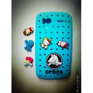 Crocs Hello Kitty Blue Silicone Soft Shell Cover for