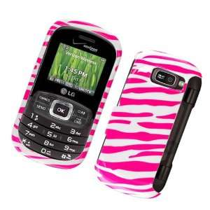 White with Hot Pink Zebra Strips Snap on Hard Skin Shell