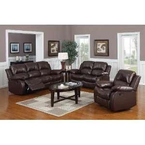 Huntington 3 pc Bonded Leather Sofa & Loveseat & Chair Set
