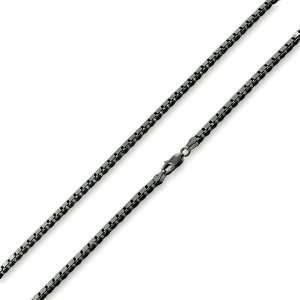 Rhodium Plated Sterling Silver Italian 16 Box Chain 3.1MM Jewelry