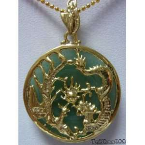 Green Jade Dragon Phoenix GIFT Pendant and Necklace: Everything Else