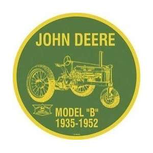 John Deere Round Model B Tractor Sign: Home & Kitchen
