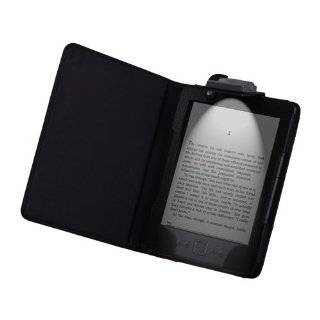 TM)  Kindle 4 4TH 4 Gen LED Light Lighted Leather Case Cover Red