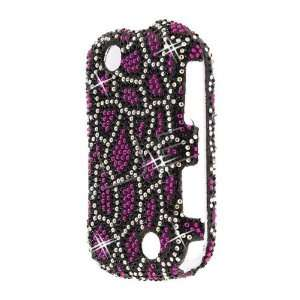 Kyocera C5120 Milano Black Hot Pink Leopard Shape Pattern Cell Phones