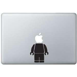 13 Mac Book Pro Lego Man Vinyl Decal/Sticker   Black
