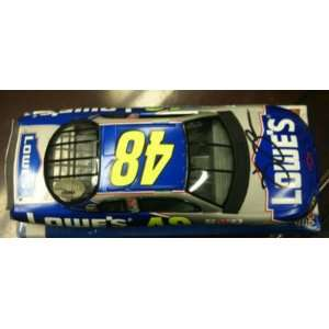 Jimmie Johnson Hand Signed #48 Lowes Car~psa Dna Coa
